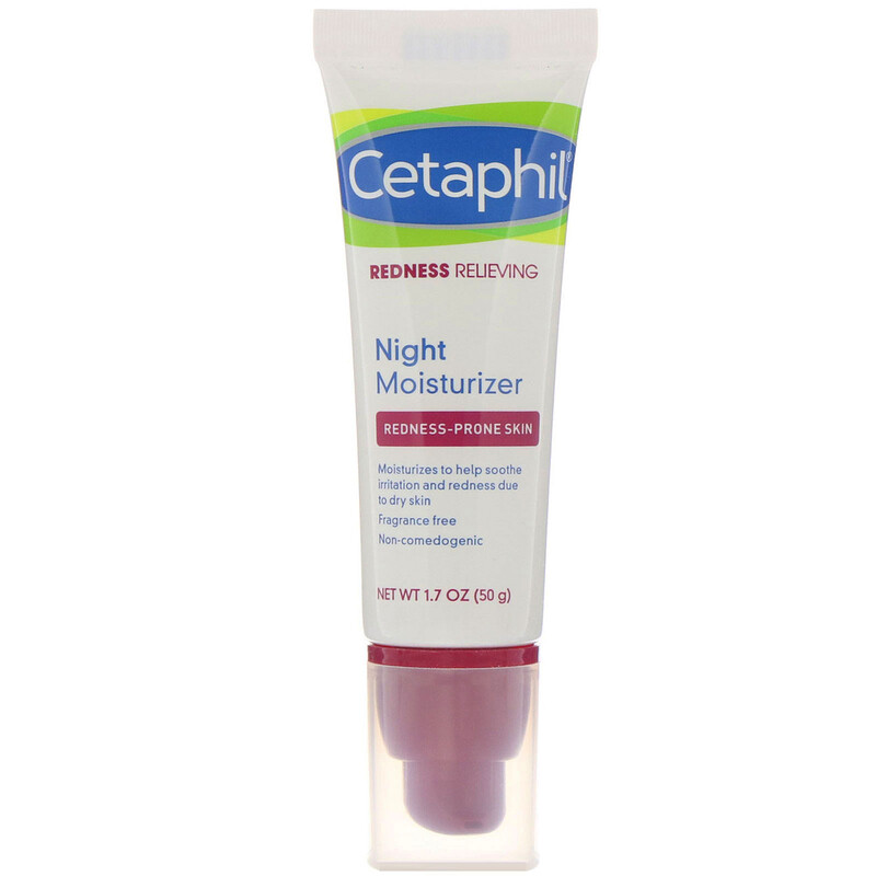 Cetaphil, Redness Relieving, Night Moisturizer, 1.7 oz (50 g)