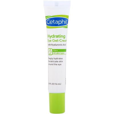 Cetaphil Hydrating Eye Gel-Cream with Hyaluronic Acid, 0.5 fl oz (14 ml)