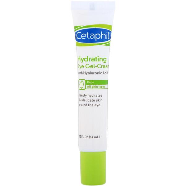 Cetaphil, увлажняющий гель-крем для глаз с гиалуроновой кислотой, 14г (0,5унции)
