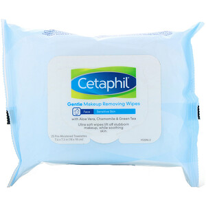 Сетафил, Gentle Makeup Removing Wipes, 25 Pre-Moistened Towelettes отзывы
