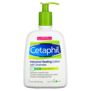 Cetaphil, Intensive Healing Lotion with Ceramides, Medium, Fragrance Free, 16 fl oz (473 ml)