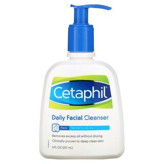 Cetaphil, 日常脸部清洁剂,8液体盎司(237毫升)