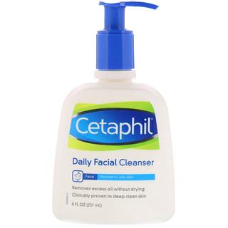 Cetaphil, Limpiador facial diario, 8 fl oz (237 ml)