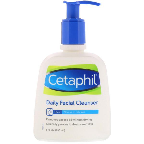 Cetaphil, منظف يومي للوجه، 8 أونصة سائلة (237 مل)