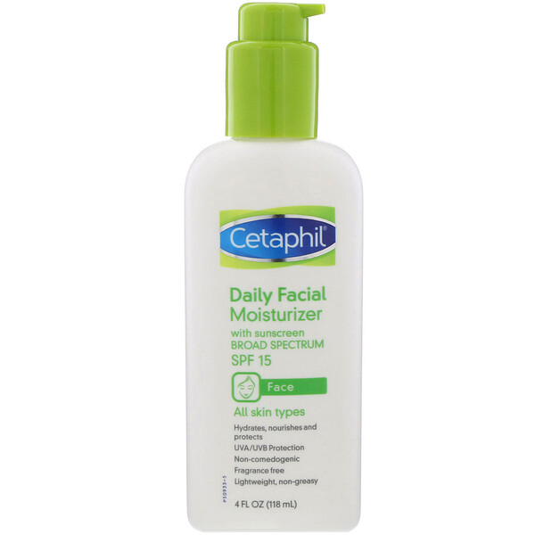 Daily Facial Moisturizer, SPF 15, 4 fl oz (118 ml)