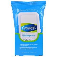 Cetaphil, Gentle Skin Cleansing Cloths, 25 Pre-Moistened Cloths, 5.0 x 7.9 (12 x 20 cm)