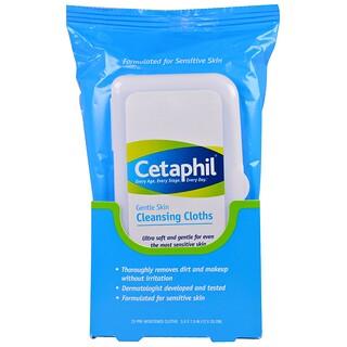 Cetaphil, Sanfte Hautreinigungstücher, 25 vorgetränkte Tücher, 5,0 x 7,9 (12 x 20 cm)