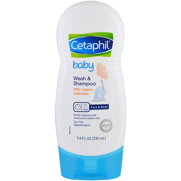 Cetaphil, Baby, Wash & Shampoo with Organic Calendula, 7.8 fl oz (230 ml)