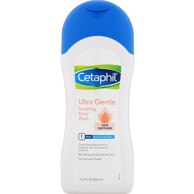 Купить Cetaphil Ultra Gentle, успокаивающий гель для душа, 500мл