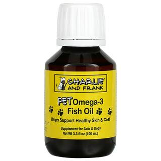 Charlie & Frank, Pet Omega-3 Fish Oil, For Cats & Dogs, 3.3 fl oz (100 ml)