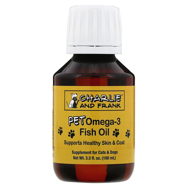 Pet Omega-3 Fish Oil, For Cats & Dogs, 3.3 fl. oz. (100 ml)