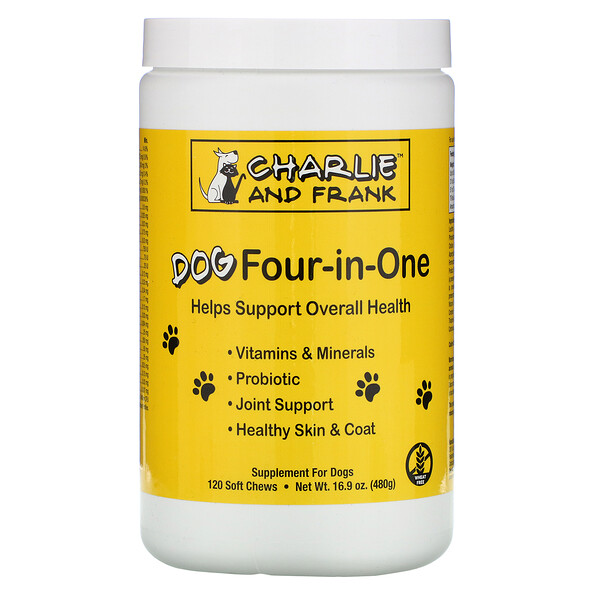 Charlie & Frank, Dog Four-in-One, 120 Soft Chews