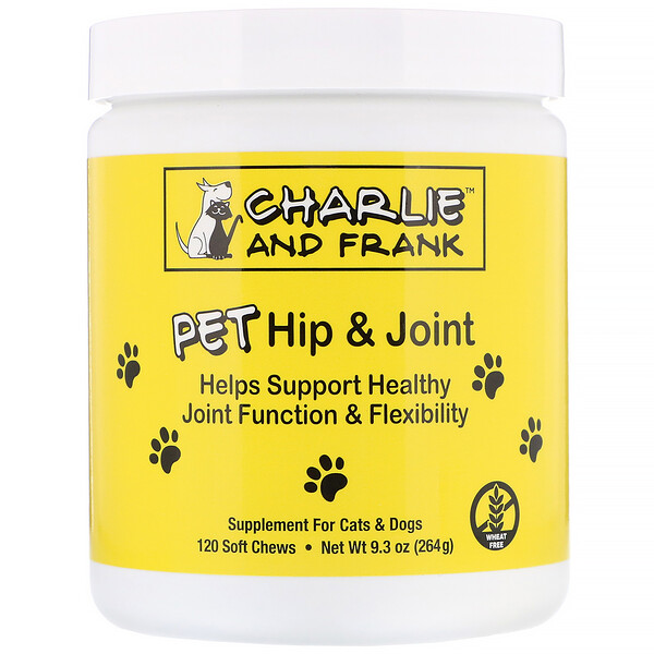 Charlie & Frank, PET Hip & Joint, For Cats & Dogs, 120 Soft Chews