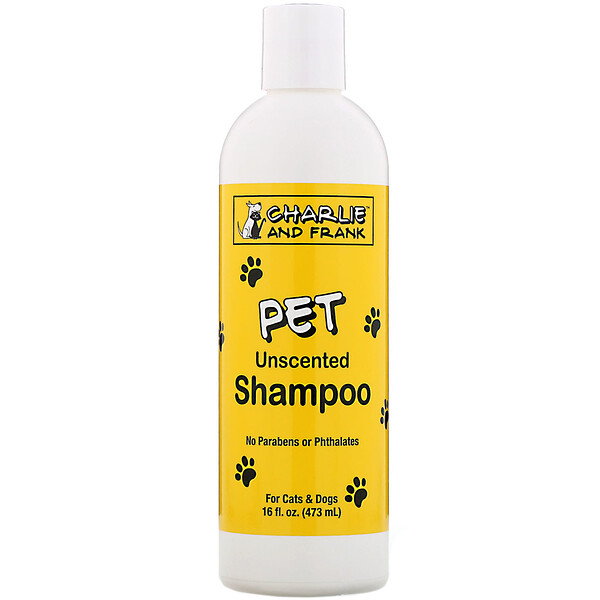 Charlie & Frank, Pet Shampoo, Unscented, 16 fl oz (473 ml)