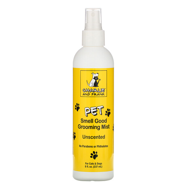 Charlie & Frank, Pet Smell Good Grooming Mist, Unscented,  8 fl oz (237 ml)