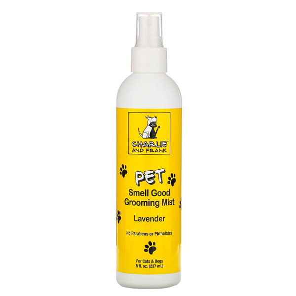 Charlie & Frank, Pet Smell Good Grooming Mist, Lavender, 8 fl oz (237 ml)