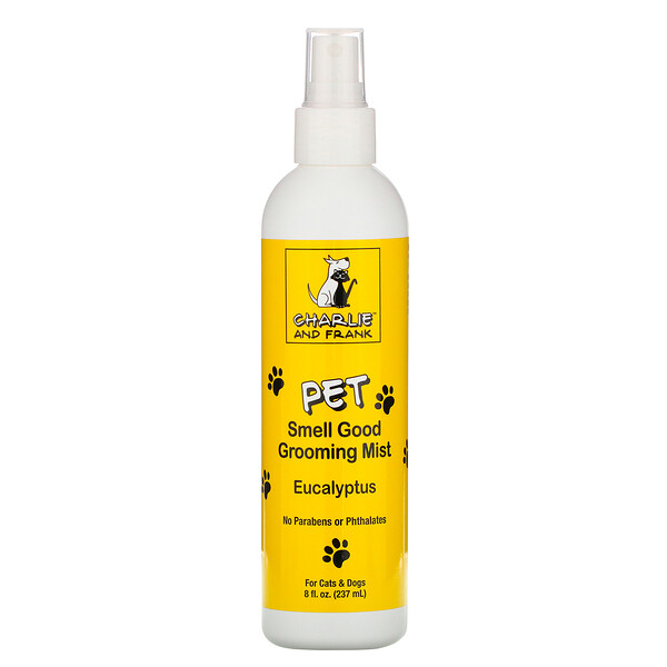 Charlie & Frank, Pet Smell Good Grooming Mist, Eucalyptus, 8 fl oz (237 ml)