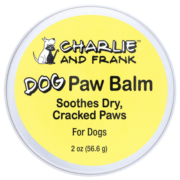 pet treats : Charlie & Frank, Dog Paw Balm, 2 oz (56.6 g)