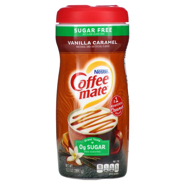 Coffee Mate, Powder Coffee Creamer, Sugar Free, Vanilla Caramel, 10.2 oz (289.1 g)