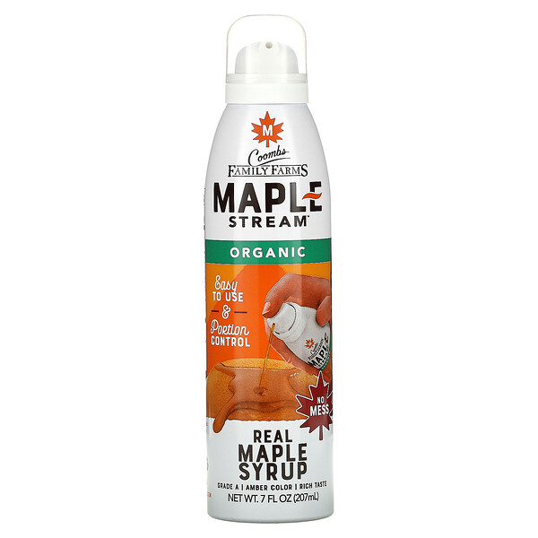 Coombs Family Farms, Maple Stream, Organic Real Maple Syrup, 7 fl oz (207 ml)