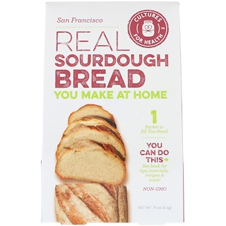 Cultures for Health, Real Sourdough Bread, San Francisco, 1 Packet, .19 oz (5.4 g)