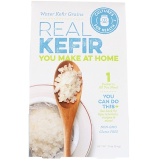 Cultures for Health, Real Kefir, Water Kefir Grains, 1 Packet, .19 oz (5.4 g)
