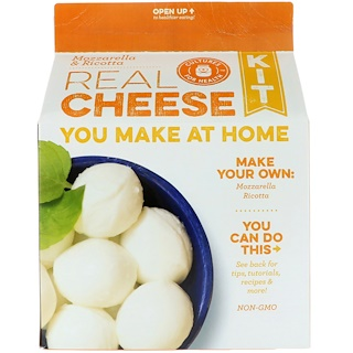 Cultures for Health, Real Cheese Kit, Mozzarella and Ricotta, 1 Kit