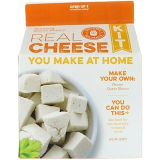 Cultures for Health, Real Cheese Kit, Paneer and Queso Blanco, 1 Kit
