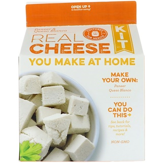 Cultures for Health, Kit de queso real, Paneer y Queso Blanco, 1 Kit