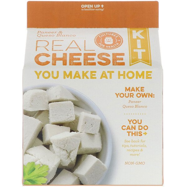 Cultures for Health, Real Cheese Kit, Paneer & Queso Blanco, 1 Kit