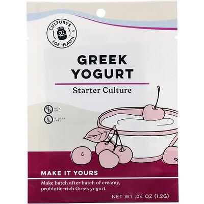 Купить Cultures for Health Greek Yogurt, 2 Packets, .04 oz (1.2 g)