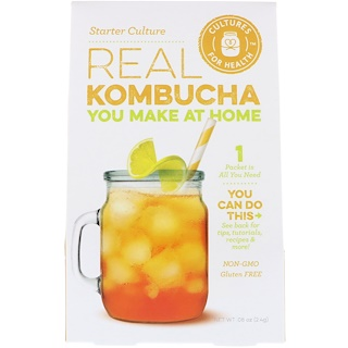 Cultures for Health, Kombucha real, cultura inicial, 1 paquete, 2.4 g (.08 oz)