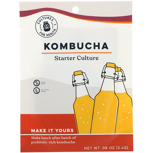 Cultures for Health, Kombucha, 1 Packet, .08 oz (2.4 g) отзывы покупателей
