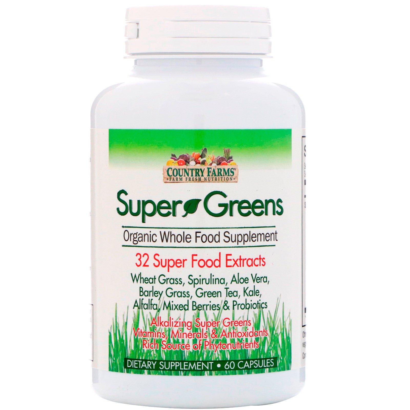 Country Farms, Súper Verdes, Suplemento orgánico de alimentos ...