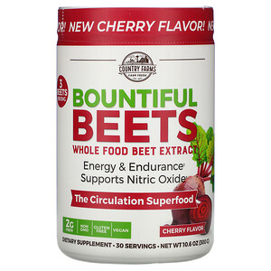 Country Farms, Bountiful Beets, Whole Food Beet Extract, Cherry Flavor, 10.6 oz (300 g) отзывы покупателей