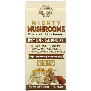 Country Farms, Mighty Mushrooms, Immune Support, 60 Capsules отзывы