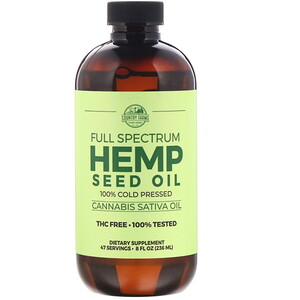 Country Farms, Full Spectrum Hemp Seed Oil, 8 fl oz (236 ml)