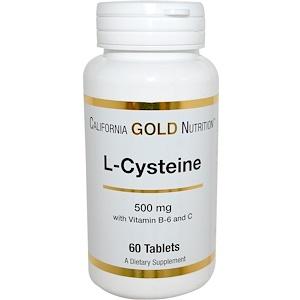 California Gold Nutrition, L-Cysteine, 500 mg, 60 Tablets отзывы