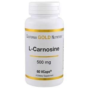 California Gold Nutrition, L-Carnosine, 500 mg, 60 VCaps отзывы