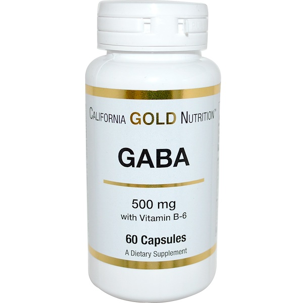 California Gold Nutrition, GABA, 500 mg, 60 Capsules (Discontinued Item)