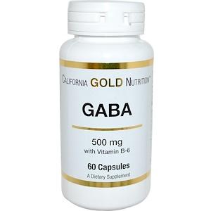 California Gold Nutrition, GABA, 500 mg, 60 Capsules отзывы