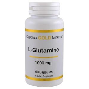 California Gold Nutrition, L-Glutamine, 1000 mg, 60 Capsules отзывы