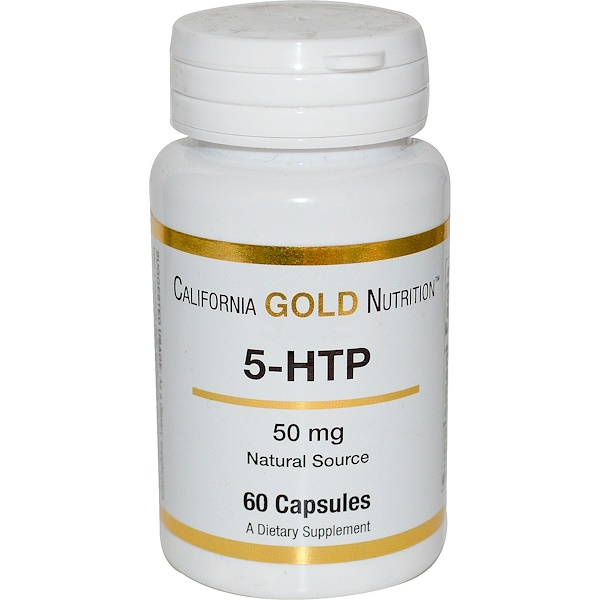 California Gold Nutrition, 5-HTP, 50 mg, 60 Capsules (Discontinued Item)