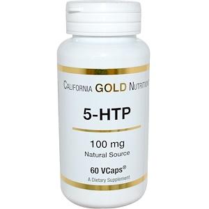 California Gold Nutrition, 5-HTP, 100 mg, 60 VCaps отзывы