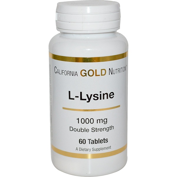 California Gold Nutrition, L-Lysine, 1000 mg, 60 Tablets (Discontinued Item)