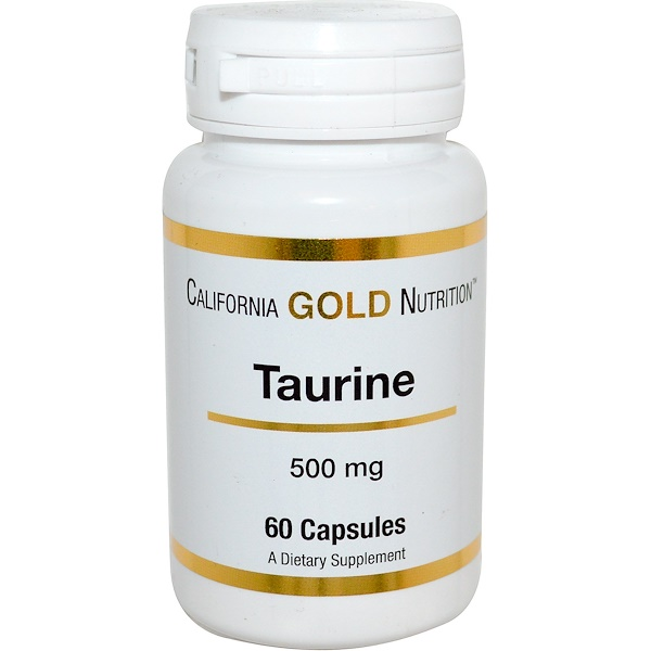 California Gold Nutrition, Taurine, 500 mg, 60 Capsules (Discontinued Item)