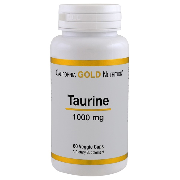 California Gold Nutrition, Таурин, 1000мг, 60капсул (Discontinued Item)