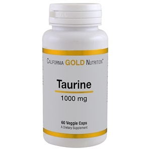 California Gold Nutrition, Taurine, 1000 mg, 60 Capsules отзывы
