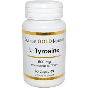 California Gold Nutrition, L-Tyrosine, 500 mg, 60 Capsules отзывы