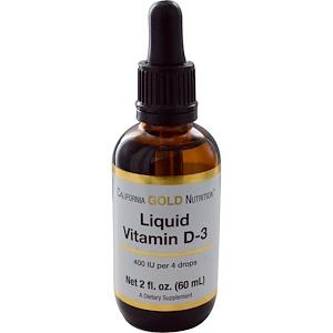 California Gold Nutrition, Liquid Vitamin D-3, 2 fl oz (60 ml) отзывы